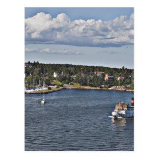 Hafen Stockholms Schweden Postkarte