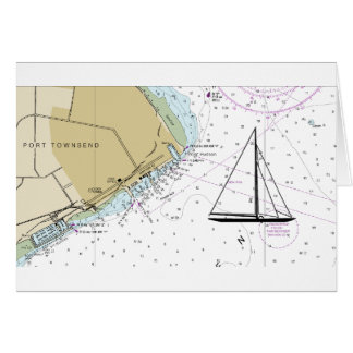 Hafen Townsend, der Seediagramm-Karte segelt