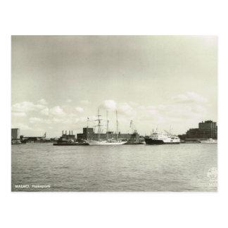 Hafen Vintagen Schwedens, Malmö, hohes Schiff Postkarte