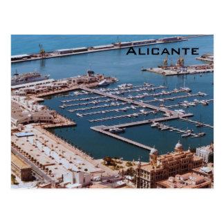 Hafen von Alicante Postkarte