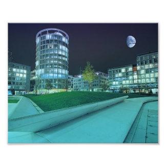 Hafencity Abends Fotodruck