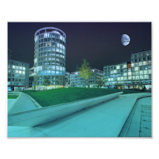 Hafencity Abends Kunst Photo