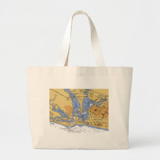 HAFENdiagramm Strand-Tasche Venedigs, Florida See Jumbo Stoffbeutel