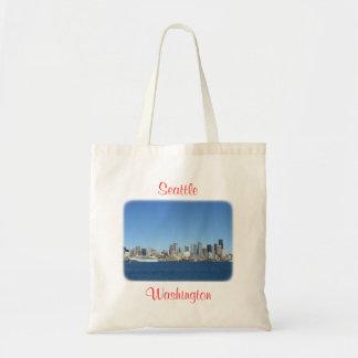 Hafenskyline-Budget-Tasche Seattles Washington Budget Stoffbeutel