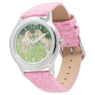 Haflinger Pferdeniedliche Fohlen-lustige Armbanduhr
