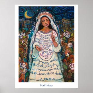 "Hagel-Mary-Plakat, 18x24 "" Poster"