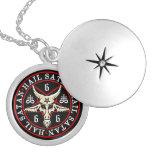 Hagel Satan Baphomet Ziege im Pentagram Amuletten