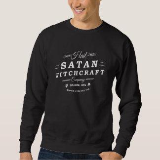 Hagel Satan Salem MA Goth Hexerei-Logo Sweatshirt