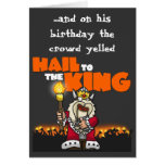 Hagel zum König - Geburtstags-Karte