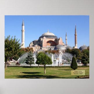 Hagia Sofia - Istanbul, die Türkei Poster