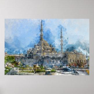 Hagia Sophia in Istanbul die Türkei Poster