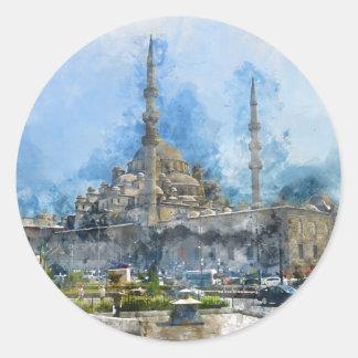 Hagia Sophia in Istanbul die Türkei Runder Aufkleber