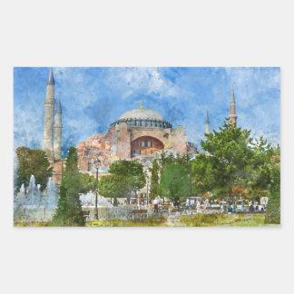 Hagia Sophia in Sultanahmet, Istanbul Rechteckiger Aufkleber