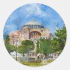 Hagia Sophia in Sultanahmet, Istanbul Runder Aufkleber