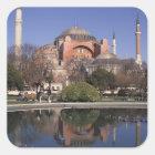 Hagia Sophia, Istanbul, die Türkei Quadratischer Aufkleber