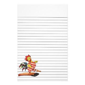 Hahn auf dem Sprungbrett gezeichnet Briefpapier