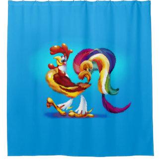 Hahn-Cartoon-Duschvorhang Duschvorhang