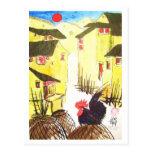 "Hahn - ""Daruma Chabo"" -  Rooster * Animal-ARTcards Postkarten"