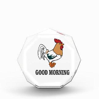 Hahn des gutenmorgens acryl auszeichnung