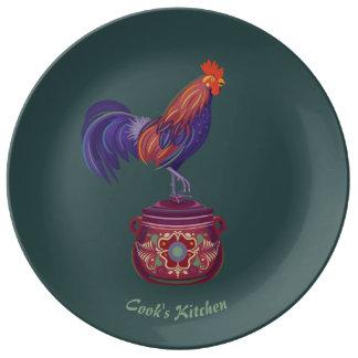 Hahn-Porzellan-Platte Teller