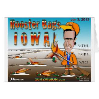 Hahn sackt Iowa ein Karte