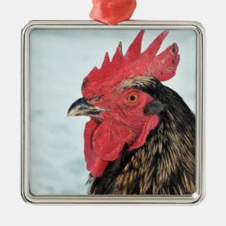 Hahn Silbernes Ornament