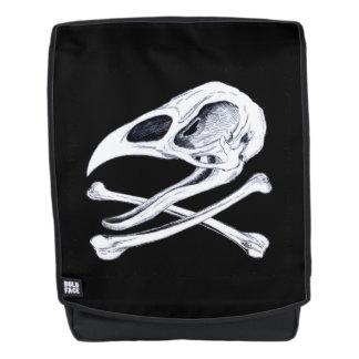 Hahn-Totenkopf mit gekreuzter Knochen Rucksack