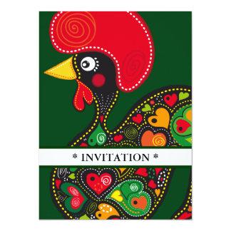 Hahn von Barcelos Nr 02 Einladung