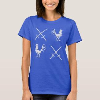 Hähne und Schwerter T-Shirt