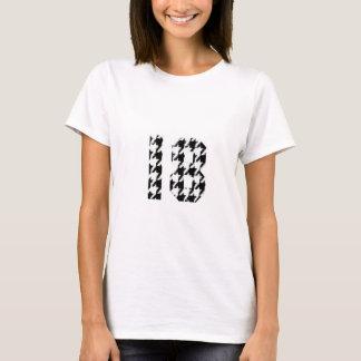 Hahnentrittmuster achtzehn T-Shirt