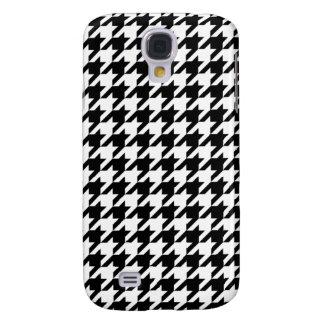 Hahnentrittmuster - fertigen Sie Hintergrund-Farbe Galaxy S4 Hülle