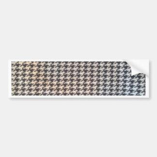 Hahnentrittmuster Schwarz-weiße elegante Auto Sticker