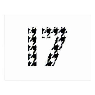 Hahnentrittmuster siebzehn postkarte