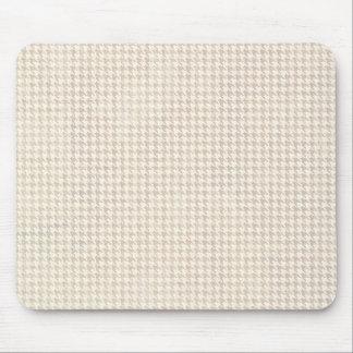 Hahnentrittmuster-Vanille-Muster Mauspads