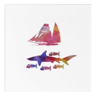 Haifisch Acryl Wandkunst