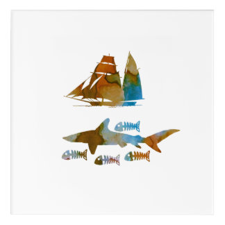 Haifisch Acryldruck
