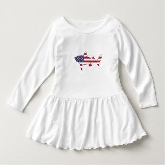 """Haifisch """"amerikanische Flagge """" Kleid"""