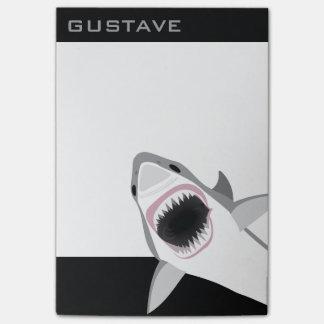 Haifisch-Angriff addieren Ihren lustigen Namen Post-it Klebezettel