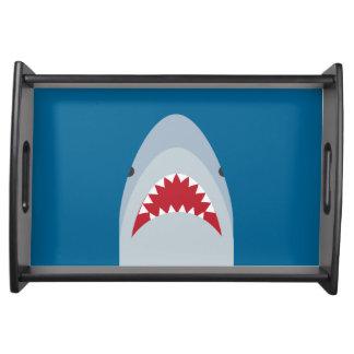 Haifisch-Angriffs-Serviertablett Serviertablett