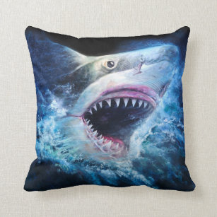 Haifisch Angriffs Wurfs Kissen Kissen