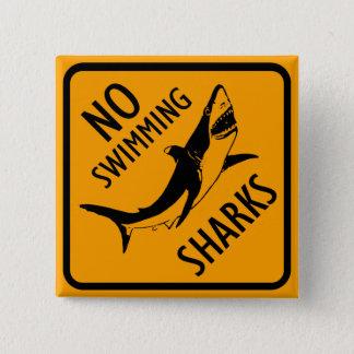 Haifisch-Australien-Zeichen Quadratischer Button 5,1 Cm
