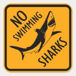 Haifisch-Australien-Zeichen (Satz von 6/20) Quadratischer Aufkleber