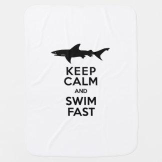Haifisch - behalten Sie Ruhe und schwimmen Sie Babydecke