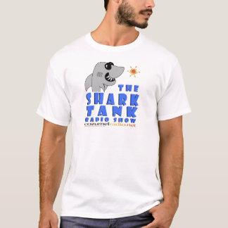 Haifisch-Behälter-Logo-Einzelteile T-Shirt