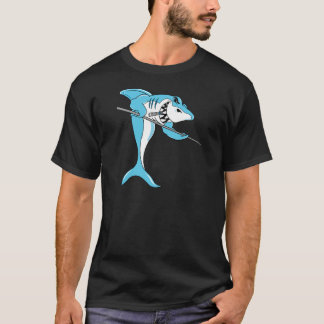 Haifisch, der Billard spielt T-Shirt