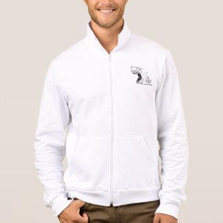 Haifisch-Fleece-Ziprüttler-Jacke/Sweatshirt Jacke