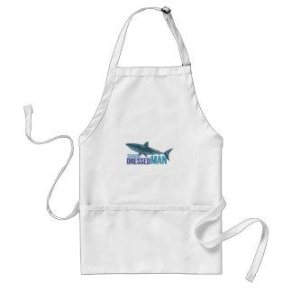 Haifisch gekleideter Mann Schürze
