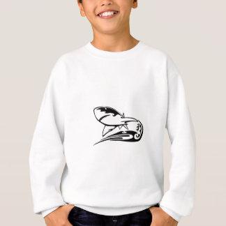 Haifisch in den Flammen Sweatshirt