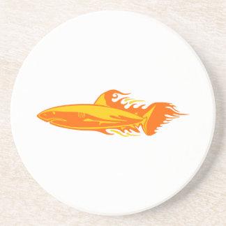 Haifisch in den Flammen Untersetzer