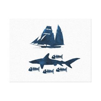 Haifisch Leinwanddruck